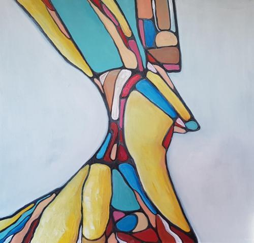 L. Keruckaite 100cm x 100cm kaina | Price 50€